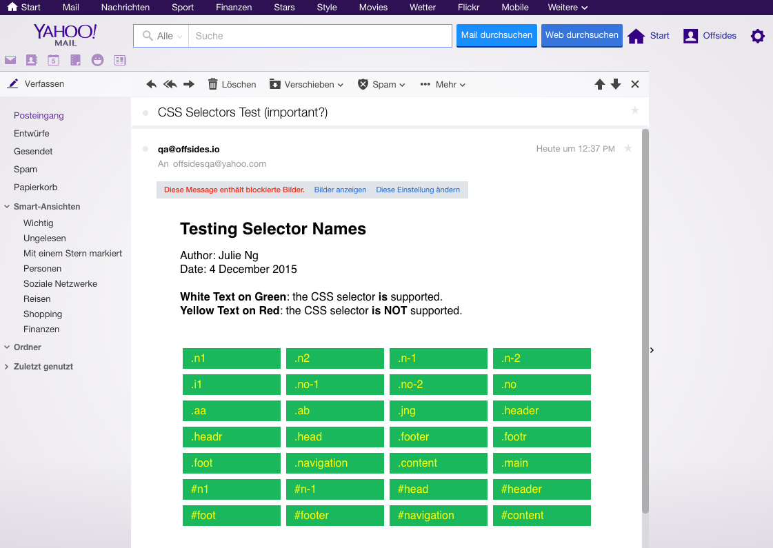 Yahoo: Yellow on Green is 50/50 support..how?